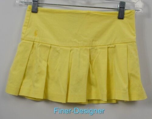 Ralph Lauren Girls Pony YOUTH Skirt Uniform pleated mini stretch cotton SZ 8 NEW