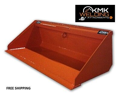 New 58 Low Profile Dirt Bucket For Skid Steerkubota Orangequick Attach