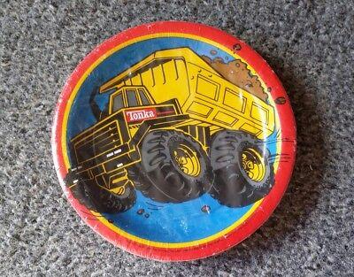 Vtg 1997 DesignWare Hasbro Tonka Truck Construction 8 Party Dessert Plates NOS