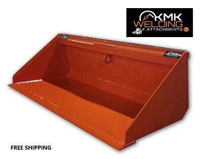 New 72 Low Profile Hd Dirt Bucket For Skid Steerkubota Orangequick Attach