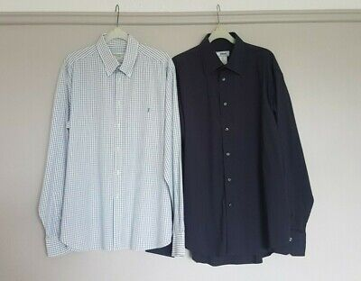 Mens Large Designer Shirt Bundle White Blue YSL & Navy Versace Ex Con