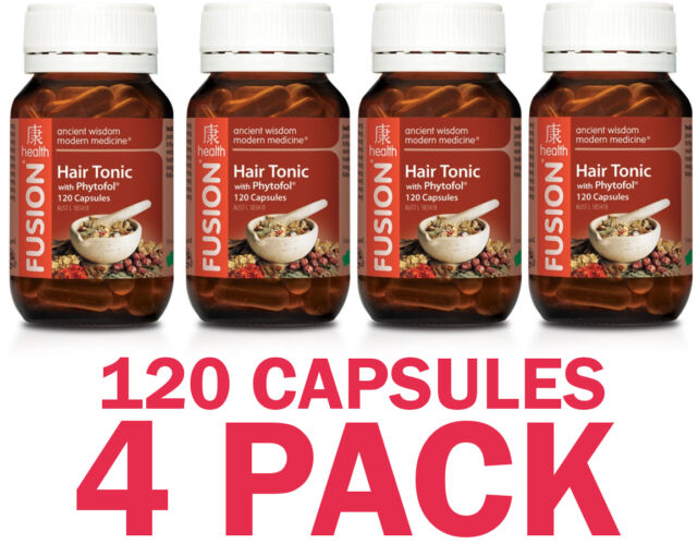 Fusion Hair Tonic 120 Capsules - 4 PACK SPECIAL - $37.25 each