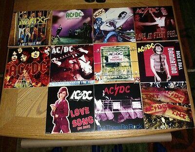 AC/DC * RARE SET OF 11 AUSSIE SLEEVES for AUSSIE SINGLES - 7