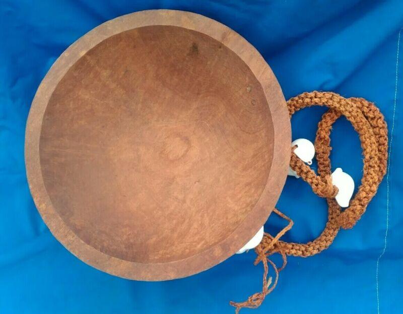 Huge Flawless Fijian Tanoa Bowl & Shell Tassel