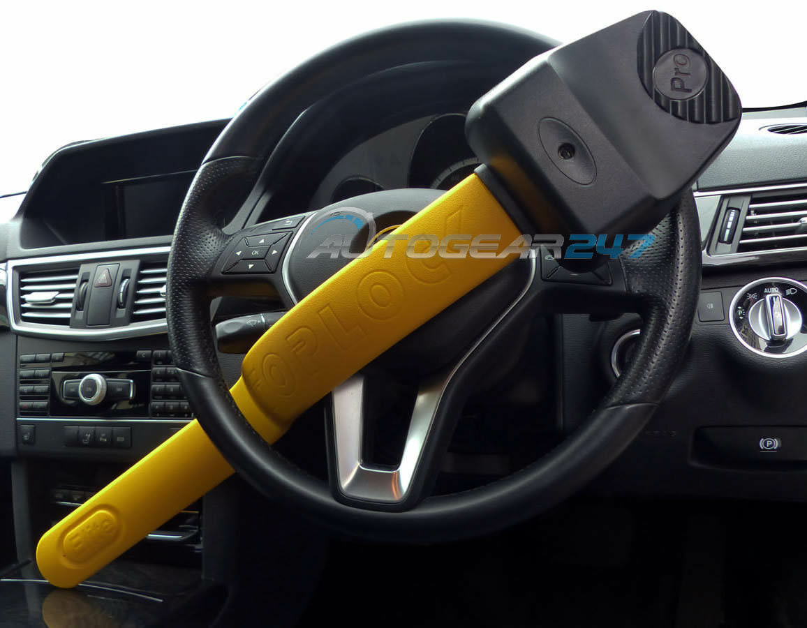 Stoplock Pro Elite Car /& Van Yellow Anti Theft High Security Steering Wheel Lock
