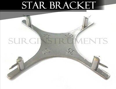3 Dental Orthodontic Star-like Bracket Positioning Gauge For Posterior Teeth