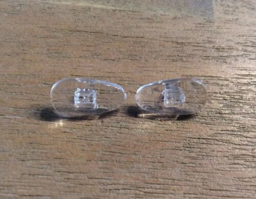 2 x Nasenpads weiches Silikon-Klar Glas Brillen Nasenstege Klicksystem Nr. 20