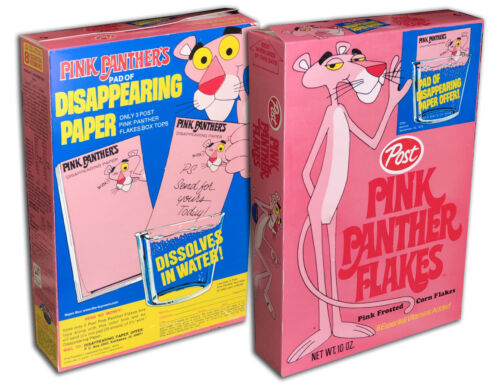 Post PINK PANTHER FLAKES Cereal Box  (BOX ONLY!)