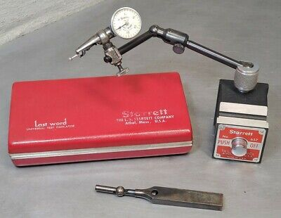 Starrett No. 657a Magnetic Base With No. 711 Last Word Indicator
