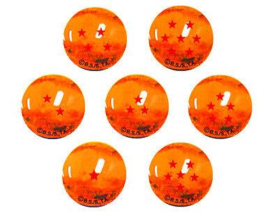 29328. Murmelbahn Dragonball Z, 7 Bälle von Kristall 22mm mit Sterne (Dragon Ball Z Bälle)