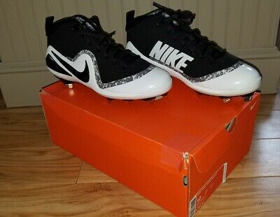 640cd760c5ec NEW Nike Force ZOOM Mike Trout 4 Metal Baseball Cleats Black White 9.5 was  $130!