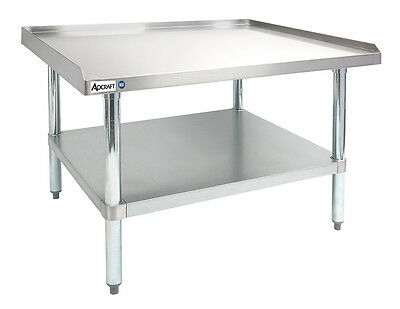 Adcraft Es-3048 Heavy Duty 30x48 16 Gauge Stainless Steel Equipment Stand