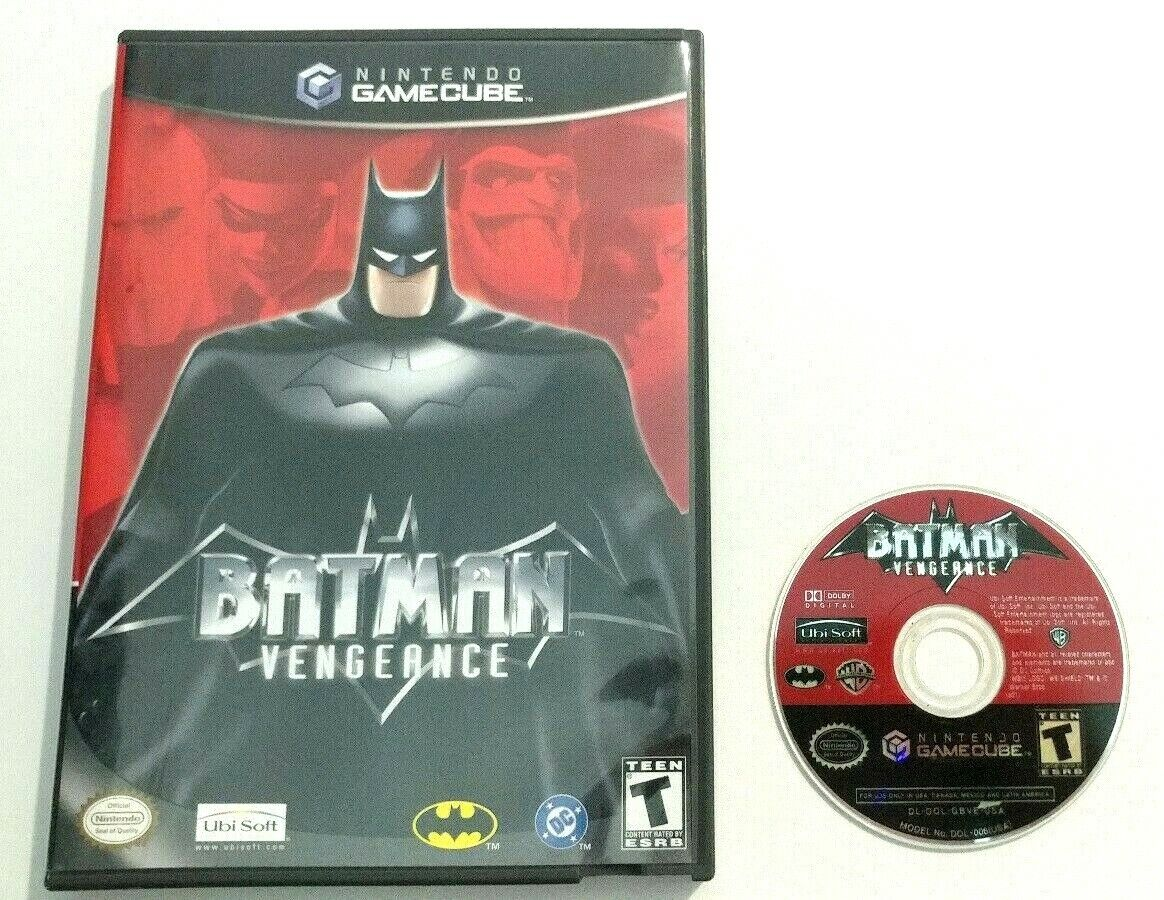 Batman Vengeance Nintendo GameCube GCN, 2001 No Manual Tested Cleaned  - $11.99
