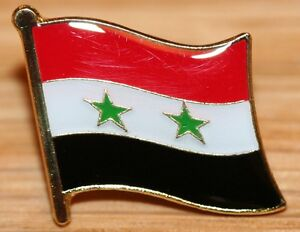 SYRIA Syrian Country Metal Flag Lapel Pin Badge