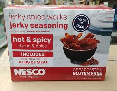 Nesco – Jerky Spice Works – Hot and Spicy Flavor Seasoning Kit  - Nesco Jerky Spice Works