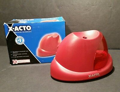 Xacto Precision Instruments Battery Pencil Sharpener W3020 Red