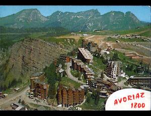 AVORIAZ-1800-74-RESIDENCES-amp-HOTELS-en-vue-aerienne-en-ete-1977