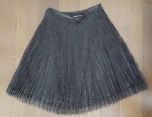 Tristan & Iseut black grey skirt dress size 2 made in Canada