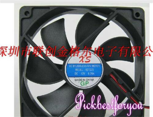 1pcs XS XS1225 Super quiet cooling fan DC12V 0.20A 120*120*25MM 2pin #M155C QL