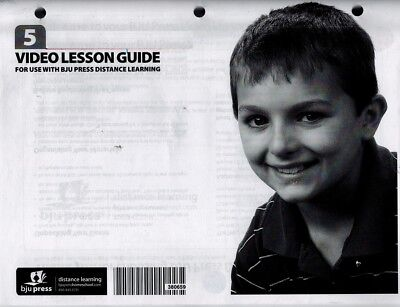 BJU Lesson Plan Guide for Use with BJU Press Distance Learning - 5th (5th Grade Lesson Plan)