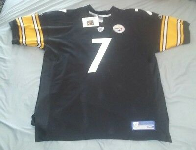 Ben Roethlisberger Authentic Jersey - BEN ROETHLISBERGER #7 PITTSBURGH STEELERS AUTHENTIC HOME FOOTBALL JERSEY sz 54