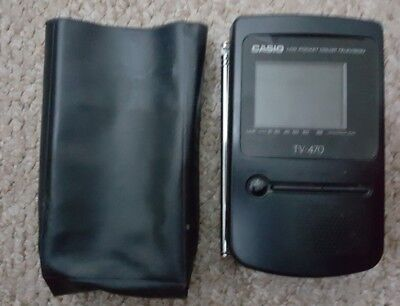 Vintage Casio TV-470 LCD  Portable Color TV - Collectors Item analog VHF UHF
