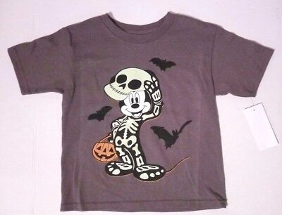 Toddler Boys Mickey Mouse Costume (Disney Toddler Boys Mickey Mouse Skeleton Costume Glow in Dark T Shirt 3T 4T)