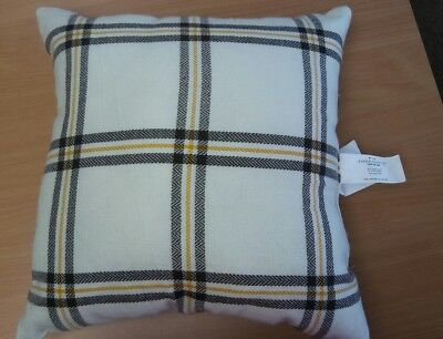 Gold Decorative Toss Pillow - Brown/Cream/Gold Plaid Decorative Toss Pillow 18