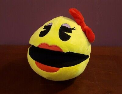"""Bandai Toy Factory Yellow colored MS. PAC-MAN Plush 7"""" High Quality!"""