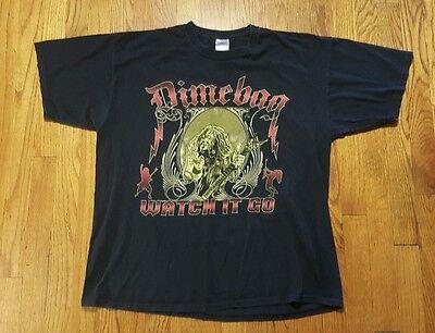"Dimebag Darrell Pantera ""Watch it go"" graphic T Shirt XL black crewneck VTG"
