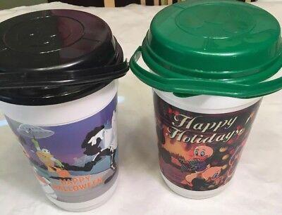 Disneyland Parks Popcorn Bucket Lot 2 Holiday Halloween/ Mickey Minnie Christmas](Peck Park Halloween)