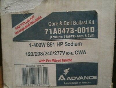 Philips Advance 71A8473-001D High Pressure Sodium Ballast, 400W, 120-277V