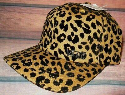 MENS VANS LEOPARD CHEETAH ANIMAL PRINT HAT ADJUSTABLE CAP ONE (Mens Cheetah Vans)