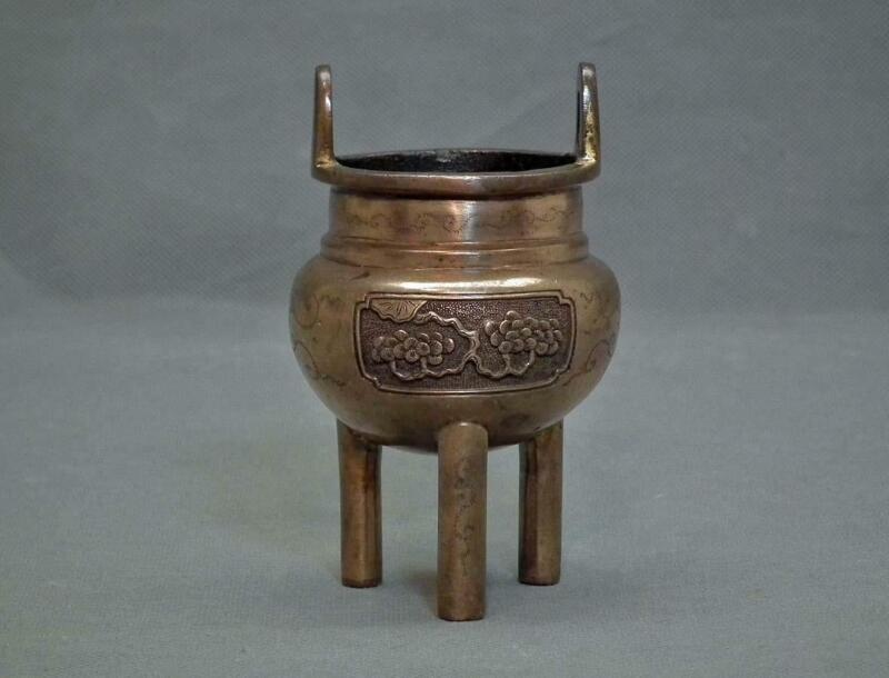 Antique 17th Century Ming dynasty Small Bronze Censer Incense Burner
