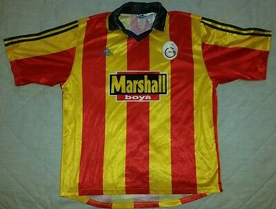 GALATASARAY football shirt jersey top RARE 1999-00  Adidas HAGI SUKUR OKAN
