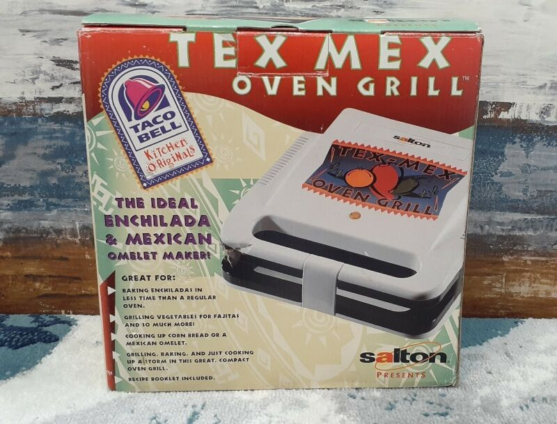 *RARE* Vintage Salton Taco Bell Tex Mex Oven grill 1999 Press Mexican Omelet