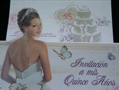 100 Invitaciones de Quinceañera (Spanish Quinceañera Invitations) Favors 15 anos (Quinceañera Invitations)