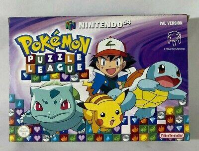 POKEMON PUZZLE LEAGUE Nintendo 64 N64 PAL mint in box ITALIANO NEW NUOVO