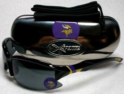 Read Listing! Minnesota Vikings XLGE 3D LOGO on BLK Wrap Sunglasses. 3 PC (Sunglasses List)