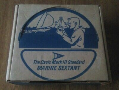 Davis Mark 3 Standard Marine Sextant. Vintage GPS backup for sailing/yachting
