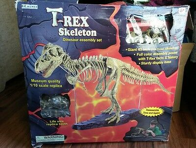 Geoworld T-Rex Skeleton Replica Model 1:10 Scale 45 Inches Science Toy NEW for sale  Glendale