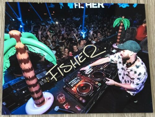 DJ FISHER SIGNED AUTOGRAPH LOSING IT YOU LITTLE BEAUTY 8x10 PHOTO F wEXACT PROOF