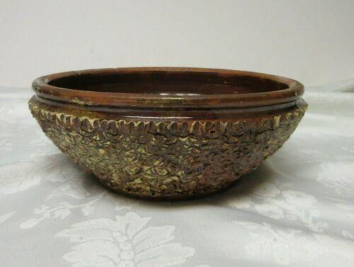 """Evans Pottery Dexter Missouri Vintage Clay Bowl 8 3/4"""" W x 3 1/4"""" T RoughTexture"""