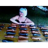 "Penis 8"" Wood Bottle opener, Beer Penis bottle opener, Black bottle opener"