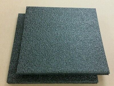 2 Sheets - 18 X 18 X 1 Black Polyethylene Plank Foam 1.7pcf Pe Best Prices