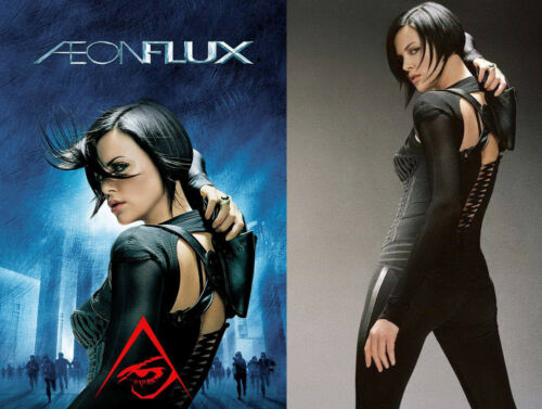 Aeon Flux Charlize Theron Movie Screen Worn Black Cat Pants w/Studio COA