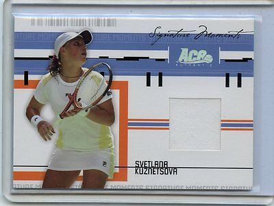 2005 Ace Authentic Signature Moments Svetlana Kuznetsova Worn Jersey   224 500