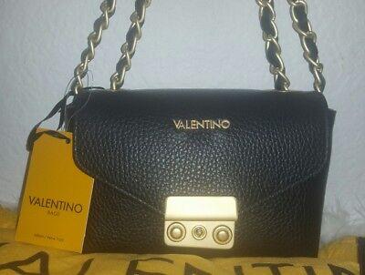 Valentino Lola Mini Leather Crossbody Bag Black & Gold