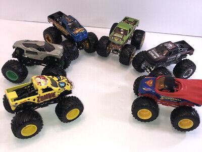 Hot Wheels 1/64 Monster Trucks Lot of 6 Preowned