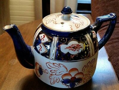Vintage Wade Heath Floral Tea Pot - Made In England- stamped, initiated.